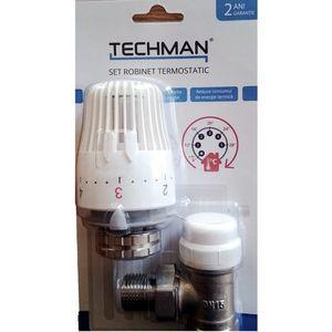 Robinet cu cap termostatic pentru calorifer Techman 1/2 imagine