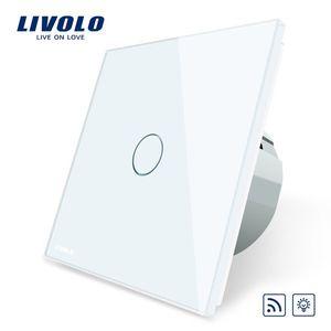 Intrerupator wireless cu variator cu touch Livolo din sticla imagine