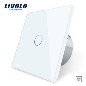 Intrerupator cu variator cu touch Livolo din sticla imagine