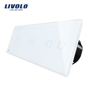 Intrerupator cu touch simplu+simplu+dublu LIVOLO din sticla imagine