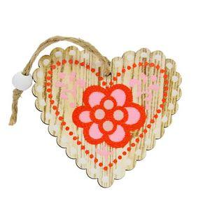 Decoratiune inima din lemn 7.5x7 cm imagine