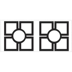 Stickere decorative TRELLIS | 1 colita de 45, 7 cm x 101, 6 cm imagine