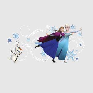 Sticker gigant ELSA, ANNA si OLAF - FROZEN | 2 colite de 45, 7 cm x 101, 6 cm imagine