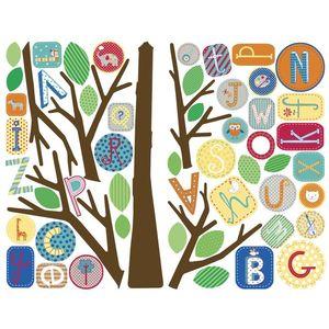 Sticker gigant multicolor ABC TREE   139, 7 x 134, 62 cm imagine