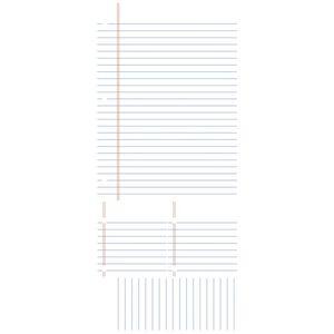 Tabla de scris LINED NOTEBOOK | 1 colita de 45, 7 cm x 101, 6 cm imagine