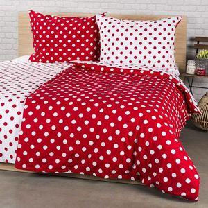 Lenjerie de pat 4Home din bumbac Buline roșii, potrivit pentru 2 persoane, 200 x 220 cm, 2 buc. 70 x 90 cm, 220 x 200 cm, 2 buc. 70 x 90 cm imagine