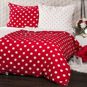 Lenjerie de pat din crep 4Home Bulină roşie, 220 x 200 cm, 2 buc. 70 x 90 cm imagine