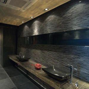 Mozaic Marmura Black Matrix 15 x 30cm Produs Comanda Speciala imagine