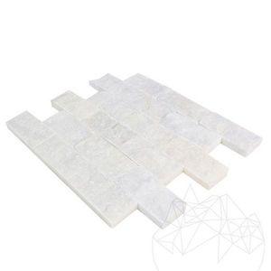 Mozaic Marmura Mugla White Scapitata 5 x 10cm imagine