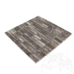 Mozaic Marmura Dark Emperador Polisata 4.8 x 1.5 cm imagine