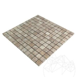 Mozaic Travertin Latte Antichizat 2.3 x 2.3cm imagine