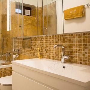 Mozaic Travertin Yellow Polisat 2.3 x 2.3 cm imagine