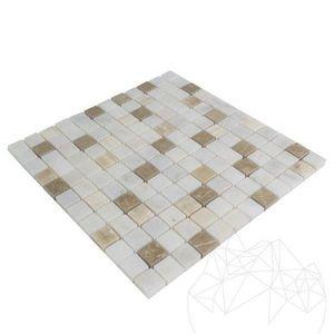 Mozaic Marmura Alba - Onix - Emperador Mix Polisata 2.3 x 2.3 cm imagine