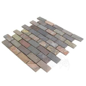 Mozaic Ardezie Multicolora Antichizata 3 x 6 cm imagine