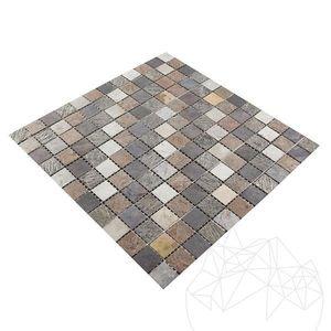 Mozaic Ardezie Flexibila SKIN - Multicolora 2 x 2 cm imagine