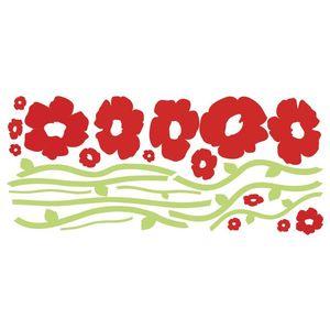 Stickere decorative POPPIES | 1 colita de 45, 7 cm x 101, 6 cm imagine