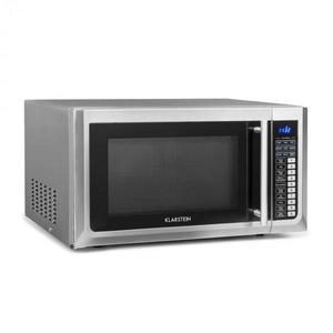 Klarstein Brilliance Pro, cuptor cu microunde, 43 litri, grătar, recirculare cu aer cald, panou tactil, oțel inoxidabil imagine