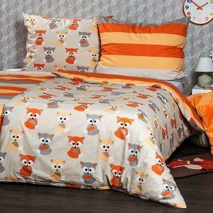 Lenjerie de pat 4Home Little Fox, din bumbac, 220 x 200 cm, 2 buc. 70 x 90 cm, 220 x 200 cm, 2 buc. 70 x 90 cm imagine