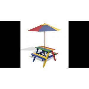 Masuta de Picnic pentru Copii cu Umbrela si Bancuta imagine