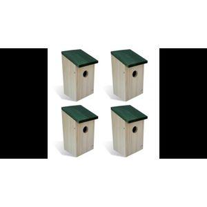 Casuta cuib pentru pasari din lemn, 4 buc imagine