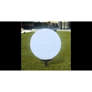 Lampa solara pentru gradina Sferica Lumina LED 50 cm cu Suport ascutit imagine