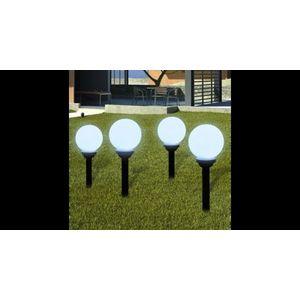 Lampi solare pentru exterior cu LED-uri + tarusi, 15 cm, 4 buc imagine