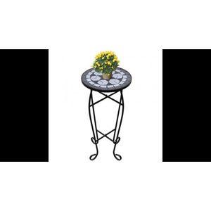 Masa cu blat ceramic, Alb-Negru imagine
