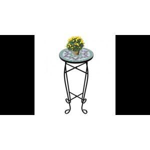 Masa cu blat ceramic, Verde-Alb imagine