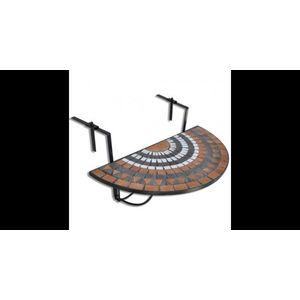 Masa suspendata pliabila pentru balcon semi-circulara, Rosu-oranj-Alb imagine