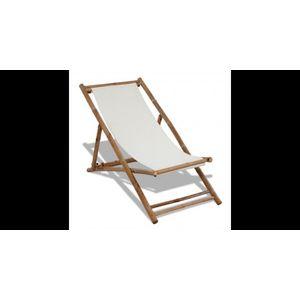 Scaun din lemn de bambus si panza imagine