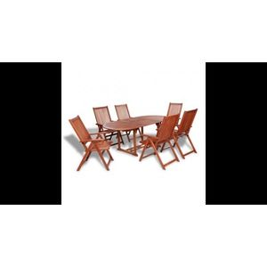 Set mobilier de gradina din lemn 7 piese imagine