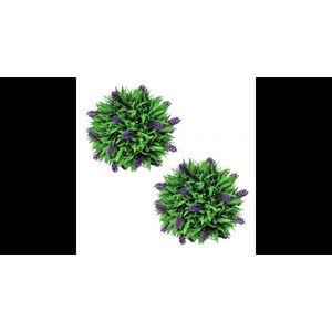 Set ornamente florale artificiale cu lavanda, 28 cm, 2 buc. imagine