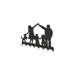 Cuier metalic FAMILIE OCROTITOARE -model 3018 Negru imagine