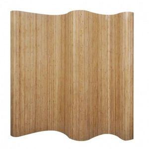 Paravan de cameră din bambus, culoare naturală, 250 x 195 cm imagine