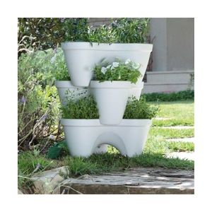 Ghivece modulare IVY PLANTER Alb/Verde imagine