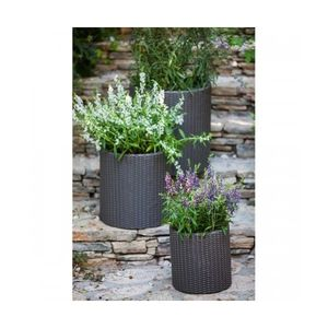 Set ghivece cilindrice S+M+L Planters - Antracit imagine