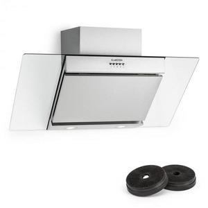 Klarstein Zola, hotă de recirculare, 90 cm, 635 m³/h, argintiu, filtru de carbon activ imagine