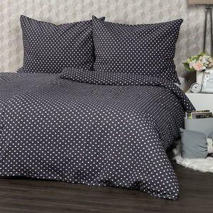 Lenjerie de pat 4Home Bulină gri, din crep, 160 x 200 cm, 70 x 80 cm, 160 x 200 cm, 70 x 80 cm imagine