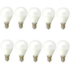 Set 10 Becuri Led E14 4W Lumina calda DLF 3041 imagine