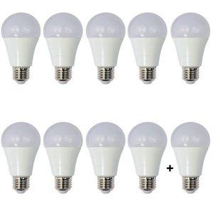Set 10 Becuri LED Drimus 12W E27 Lumina rece DL 6121 imagine