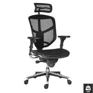 Scaun ergonomic mesh Enjoy negru Negru imagine