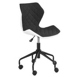 Scaun birou copii HM Matrix alb - negru Negru imagine