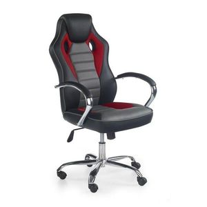 Scaun gaming HM Scroll negru - rosu - gri rosu imagine