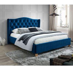 Pat SL Aspen Velvet 160x200 albastru imagine
