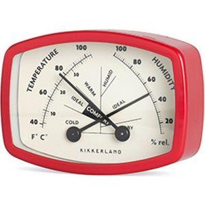 Termometru si umidometru retro | Kikkerland imagine