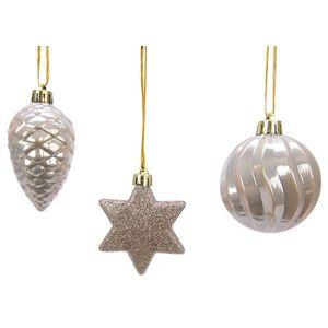 Set 3 globuri decorative - Silver Figurine   Kaemingk imagine