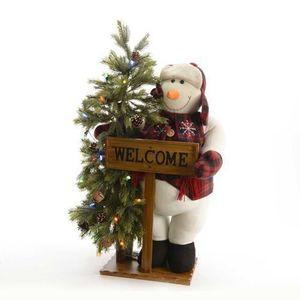 Figurina decorativa - Snowman with Tree   Kaemingk imagine