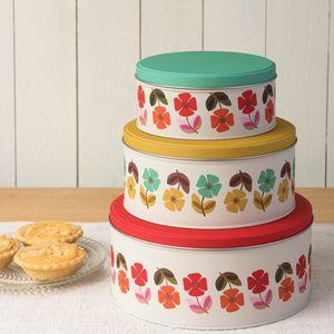 Cutie metalica mare - Mid Century Poppy Cake | Rex London imagine
