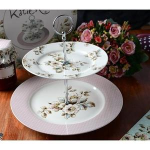 Katie Alice - Vintage Inspired Two Tier Cottage Flower Cake Stand | Creative Tops imagine