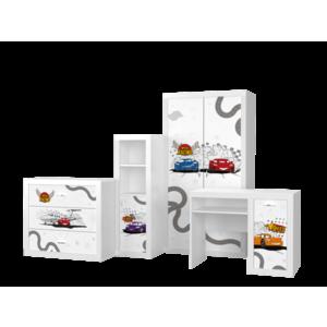 Set mobilier camera de copii 4 piese, Cars imagine